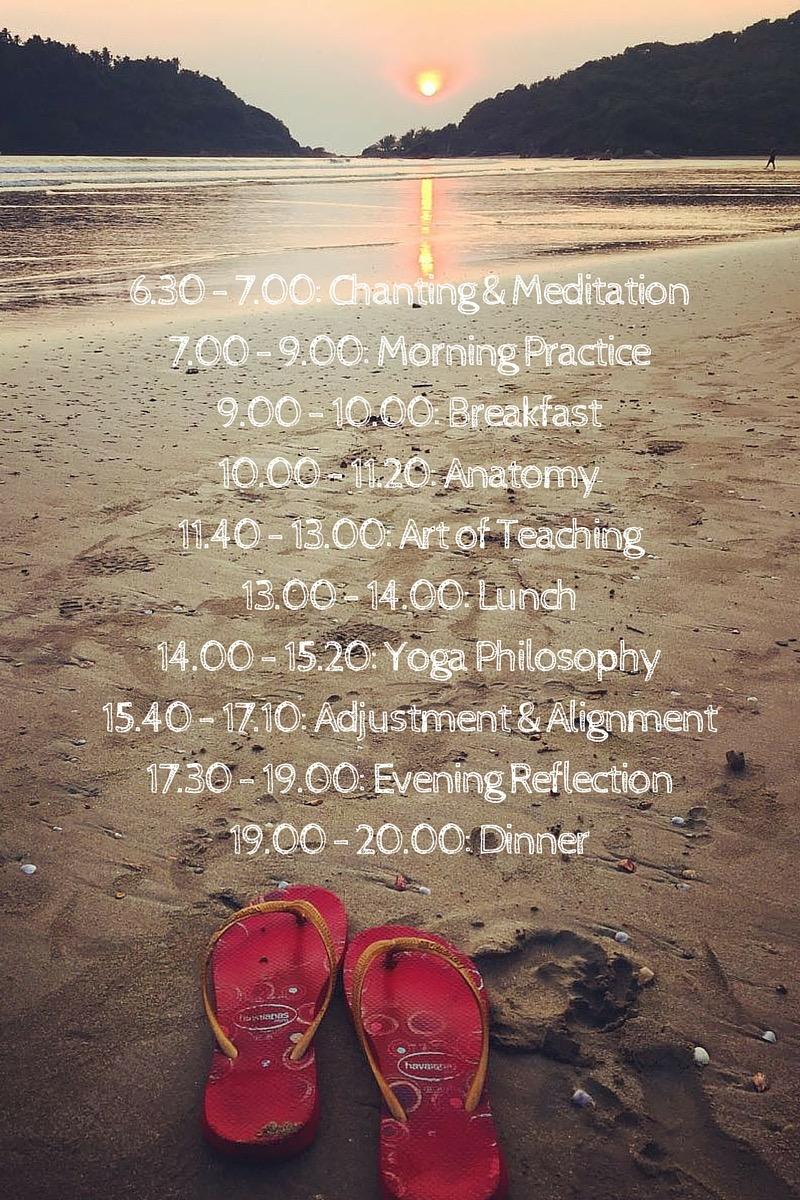 Yogalehrerausbildung-schedule