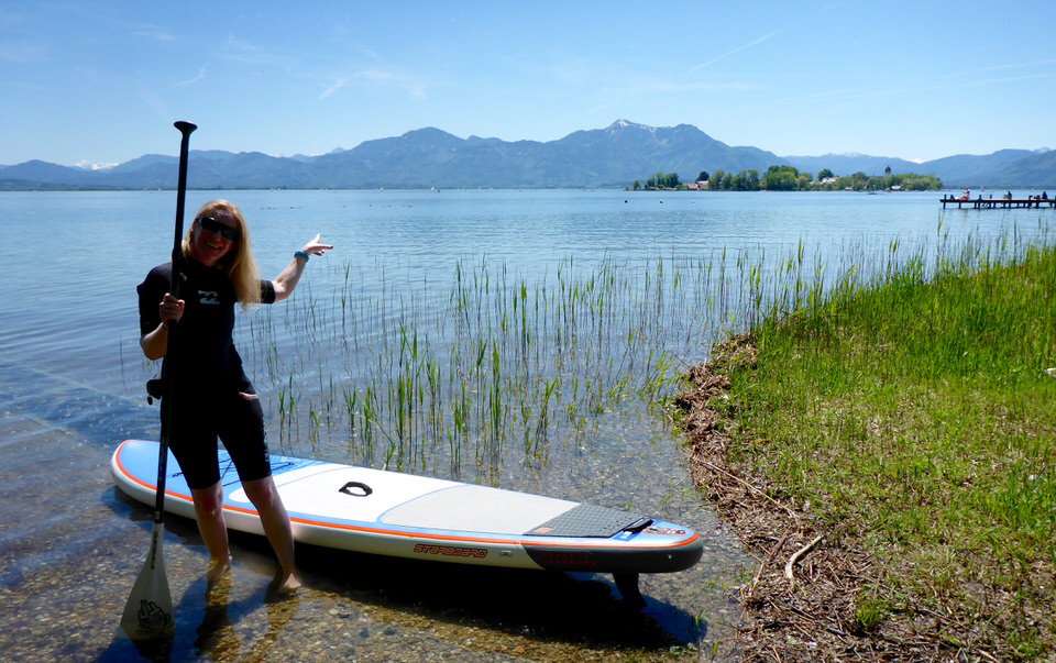 Outdoor SUP Chiemsee Fraueninsel
