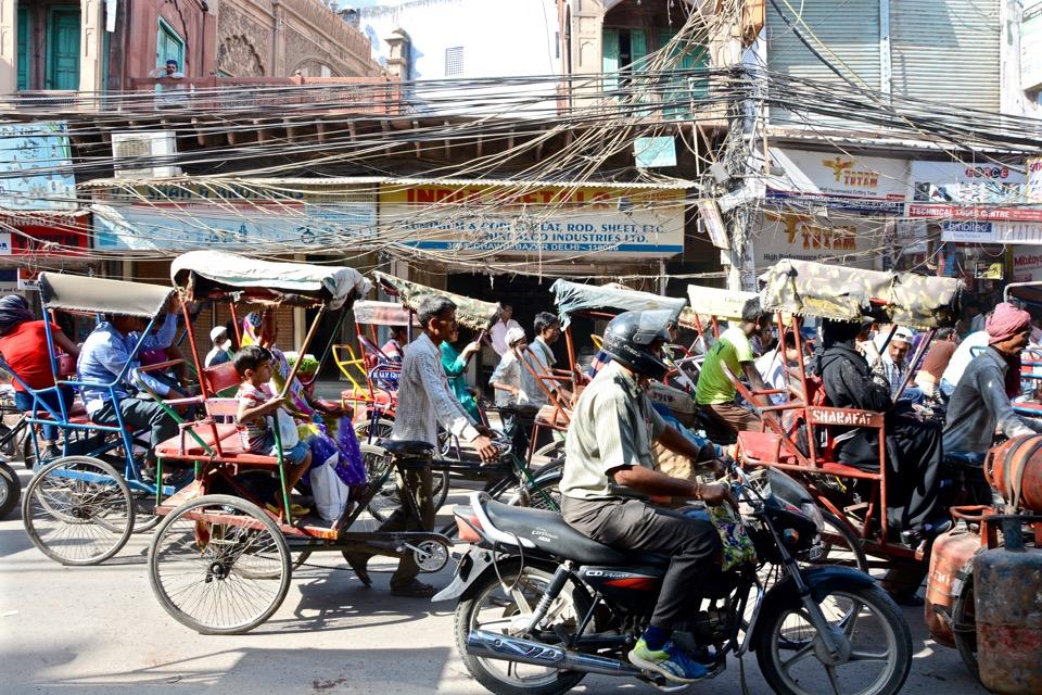 Reisen 2016 Indien Old Delhi Traffic