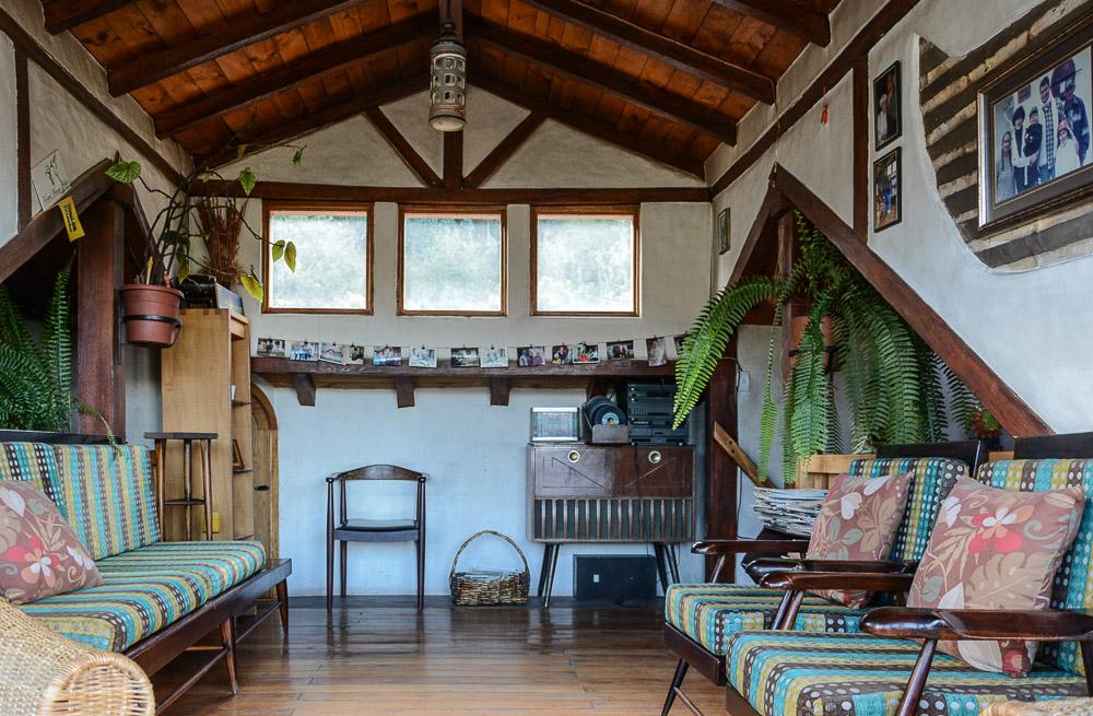 Traveling the World Ecuador Wandern Quilotoa Loop Anden Chugchilan Hostal Mama Wohnzimmer