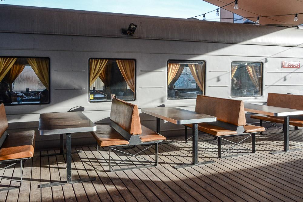 Traveling the World Tallink Silja Tallinn Telliskivi Café Train Carriage